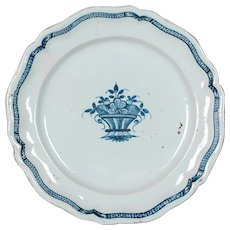 18th Century French Rouen Ceramic Platter