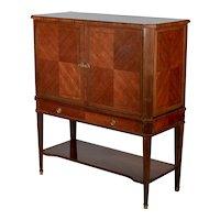 French Mahogany and Rosewood Bar Cabinet