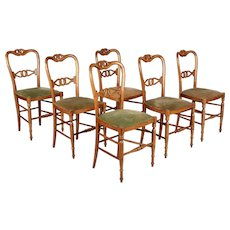 19th Century French Parlor Chairs Set of Six