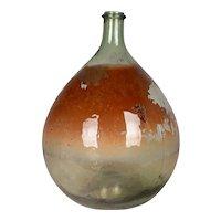 French Glass Demijohn Bottle