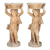 Pair of French Garden Statue Planters