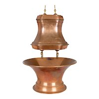 French Copper Lavabo with Large Basin