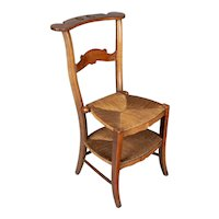 19th Century Country French Rush Seat Chair