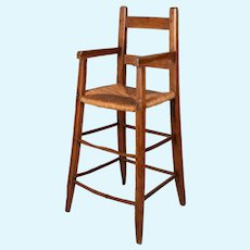 19th Century Country French Child's High Chair