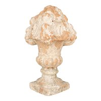 Pair of French Terracotta Garden Finials