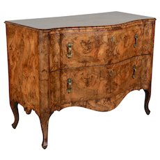 19th Century Italian Olive Wood Commode