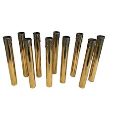 Set of 10 Brass Candle Cover