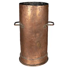 18th Century French Tall Copper Pot