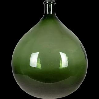 19th Century French Blown Glass Demijohn Bottle