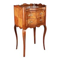 19th Century Louis XV Style Marquetry Side Table