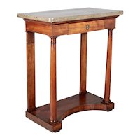 19th Century French Empire Marble Top Console