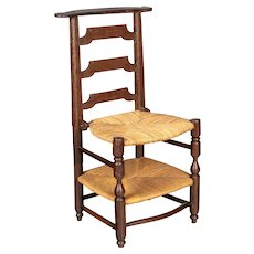 17th Century Country French Rush Seat Chair