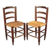 19th Century Country French Child's Chairs - a Pair
