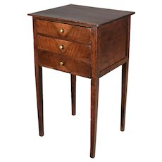 19th Century Country French Walnut Side Table
