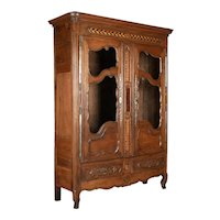 18th Century Country French Oak Armoire