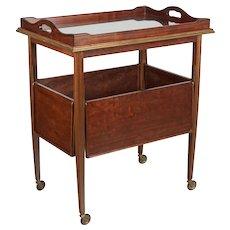 French Mid Century Mahogany Bar Cart
