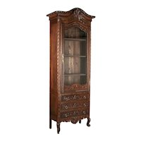 19th Century Louis XV Style Bonnetiére or Display Cabinet