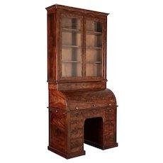 19th Century Louis Philippe Bureau à Cylindre or Roll Top Secretary Desk