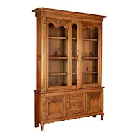 Country French Louis XV Style Vitrine or China Cabinet
