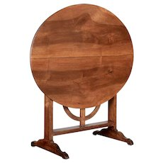 19th Century French Walnut Tilt-Top Side Table