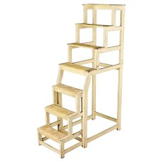 French Painted Wood Step Ladder