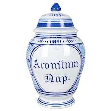 Delft Faience Apothecary Jar