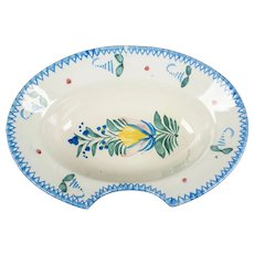 French Faience Shaving Bowl