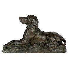 19th Century French Bronze Hunting Dog