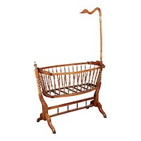 19th Century French Provencal Baby Cradle