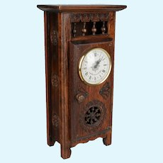 French Miniature Brittany Doll Furniture Clock