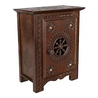 French Miniature Brittany Doll Furniture Cabinet