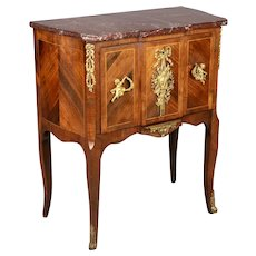19th Century Louis XV Style Bronze Mounted Marquetry Chest