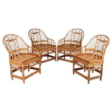 Bamboo Chinese Export Chairs - Set of 4