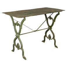 French Cast Iron Garden Bistro Table
