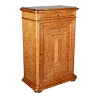 Large French Charles X Style Amboyna Burl Cabinet