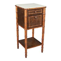 19th Century French Faux Bamboo Nightstand