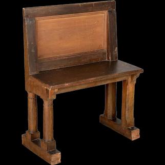 19th Century French Oak Bench
