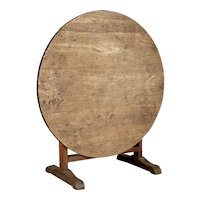19th Century French Wine Tasting Table or Tilt-Top Dining Table