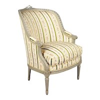 French Louis XVI Style Bergere Armchair