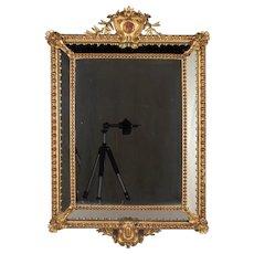 19th Century Napoleon III Gilded Parclose Mirror