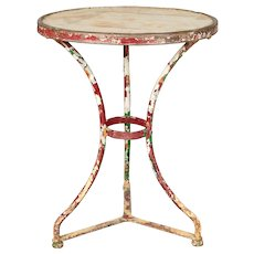 19th Century French Wrought Iron Bistro Table