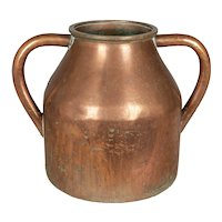 Large 19th Century French Copper Jug or Vase