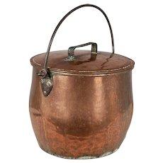 Large 19th Century Copper Stock Pot or Cauldron