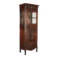French Louis XV Style Bonnetiére or Display Cabinet