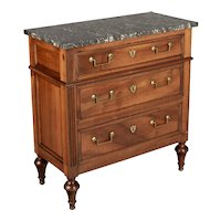 19th Century French Louis XVI Style Marble Top Commode