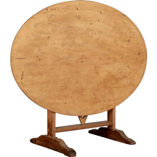 19th Century French Oval Wine Tasting or Tilt-Top Table