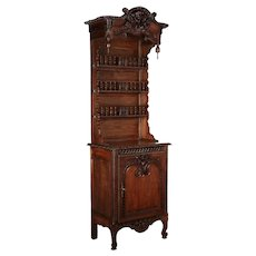 19th Century Country French Vaisselier or China Hutch