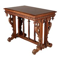 Louis XIII Style French Walnut Side Table
