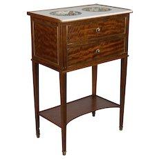 Louis XVI Style Mahogany Rafraichissoir or Wine Table