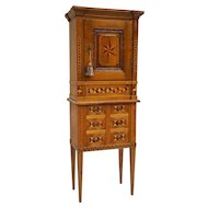 19th c. Swiss Marquetry Cabinet